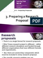 Preparing a Research Proposal