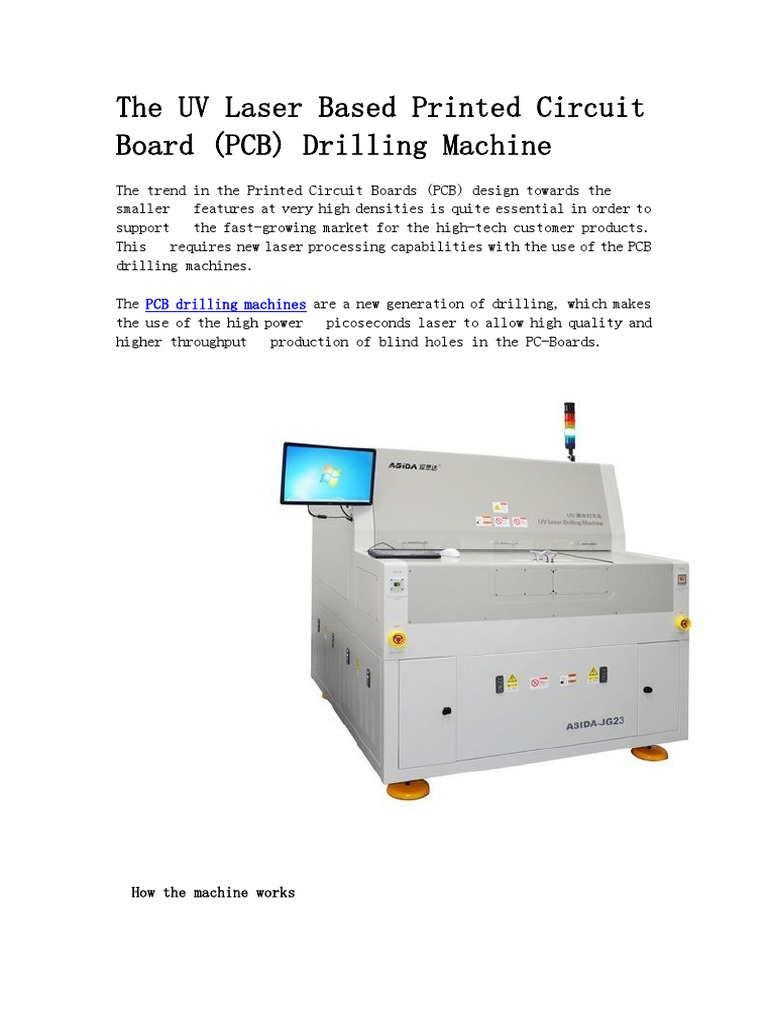 The Uv Laser Based Printed Circuit Board Pcb Drilling Machine Production Buy Boardpcb