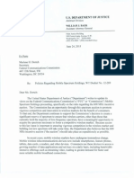 DOJ letter to FCC re