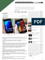 Comparação entre Moto G e Zenfone 5