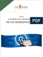 El Desafio de La Transparencia en La Municipalidades