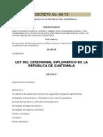 Ley del Ceremonial Diplomático Guatemala