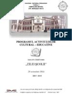 Program Zilele Scolii 2014