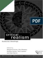 Archer Et Al Cr Essential Readings 1998 Bhaskar Genl Intro
