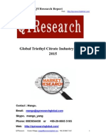 Global Triethyl Citrate Industry Report 2015