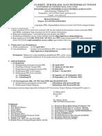 Pengumuman Pendaftaran PPL 2015 2016
