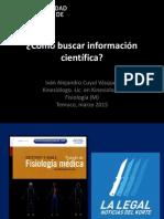 ¿Cómo Buscar Información Científica