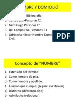 Nombre y Domicilio