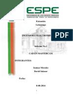 Informe 1 Manejo Del Software Mastercam