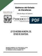 Ley de Hacienda Municipal Del Estado de Zacatecas