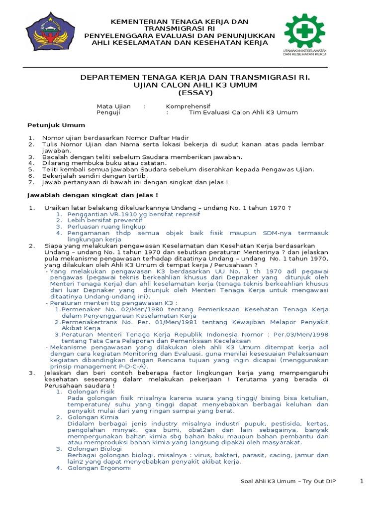 Soal Essay 11 Feb 13 Doc