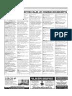 Oferta Electoral Provincial - Concejales