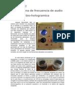 Máquina de Frecuencia de Audio Bio-hologramica