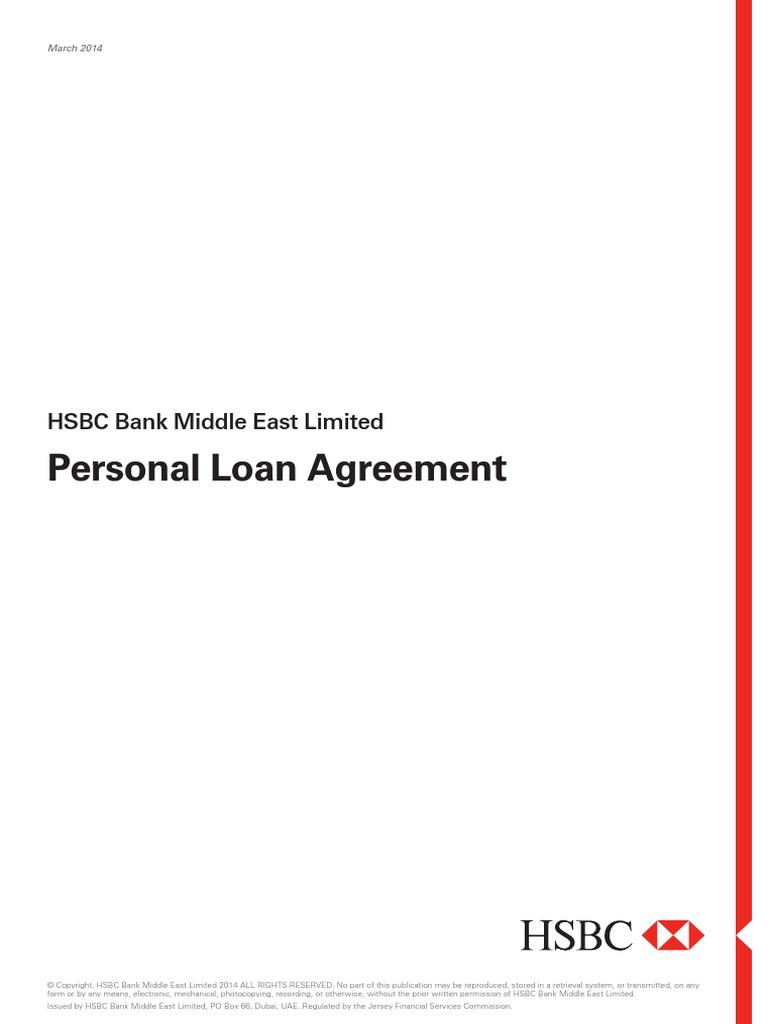 Personal Loan Agreement e | Loans | Credit (Finance)