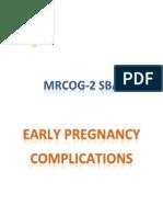 (SAMPLE) 1- Early Pregnancy (SBA)