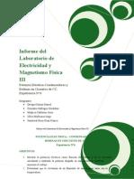 Potencia Eléctrica-Condensadores y  Bobinas en Circuitos de CC