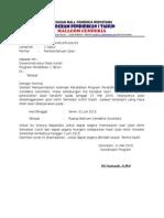 Surat Pemberitahuan Ujian