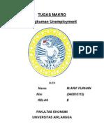 Tugas Makro Unemployment (M.arif Furhan040810115)