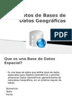 Conceptos de Bases de Datos Geogr Ficas