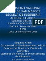 Primera Clase de Diseno de Plantas y Proyectos de Invrersion