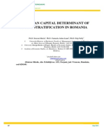 lucrTHE HUMAN CAPITAL DETERMINANT OF SOCIAL STRATIFICATION IN ROMANIA