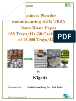 Business Plan Egg Tray Making in Nigeria