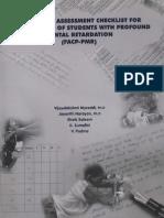 Functional Assessment Checklist for Prog