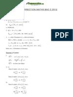 Correction Maths BacC 2012
