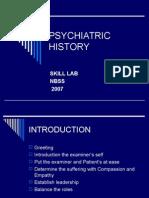 Psychiatric History