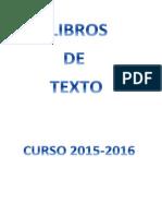 Libros de Texto 2015 2016