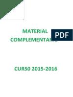 Material Escolar 2015 2016
