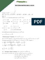 Correction Maths BacD 2010
