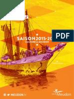 Culture à Meudon - saison 2015-2016