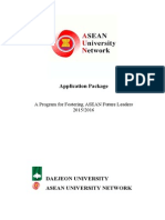 Application Package & Info Fostering ASEAN Future Leaders - 2015-2016