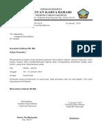 Contoh Surat Izin Pelantikan Badge