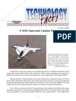 F16XL Supersonic Laminar Flow