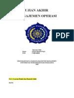 Jawaban UAS Manajemen Operasi~imam khoirul fajri