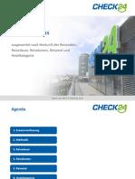 Pauschalreisen 2015 - Studie von check24.de