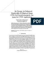 On the Design an Enhanced Bandwidth of Elliptical Shape CPW