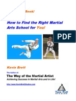 Finding the Right Martial Arts School for You