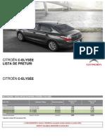 Citroen C-Elysee-GPL Lista de Preturi 05 20151