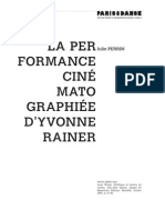 j. Perrin La Performance Cinematographiee Dyvonne Rainer