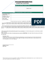 Bank Account Information Form