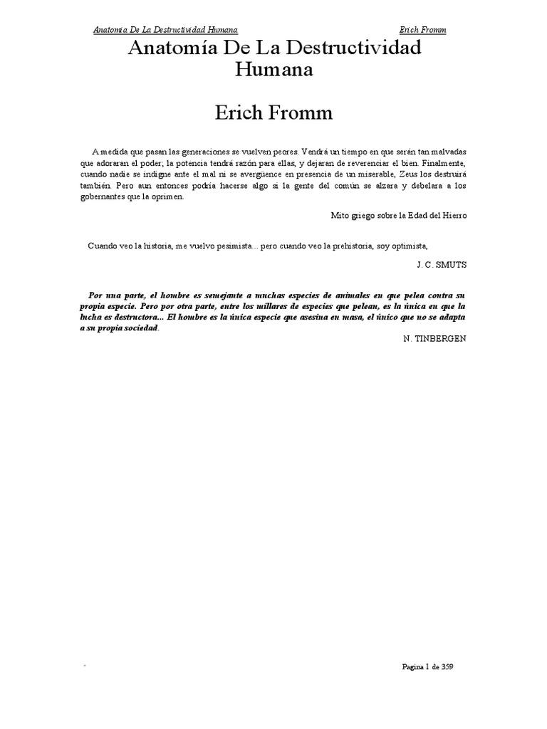 Anatomia de La Destructividad Humana - Erich From
