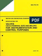 Bgc Ps v8 Valves for Instrumentation
