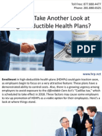 Time to Take Another Look at High-Deductible Health Plans?