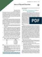 Laboratory Evaluation of thyroid hormones