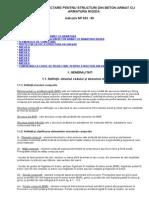 Cod de Proiectare Pentru Structuri Din Beton Armat Cu Armatura Rigida Np033-99