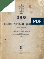 130 de melodii populare aromâneşti - 1937_Ioan Caranica