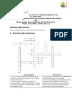 Examen de Recuperacion de Informatica Del 3er Bimestre Del 3er Gado de Secundaria